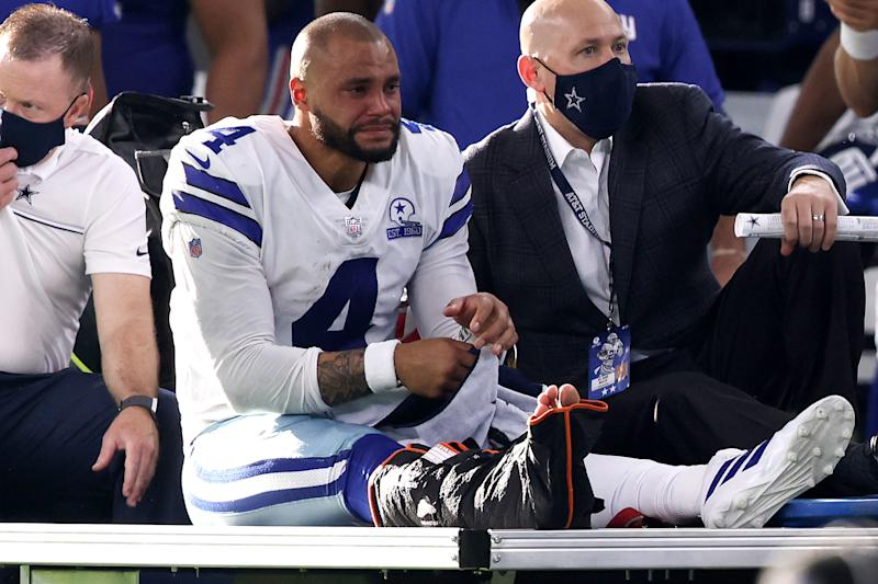"Tony Dungy said that Dak Prescott's injury could be a ""blessing in disguise"" for the Cowboys, even though ""blessing"" isn't a word you ever want to use when talking about a devastating injury. (Photo by Tom Pennington/Getty Images)"