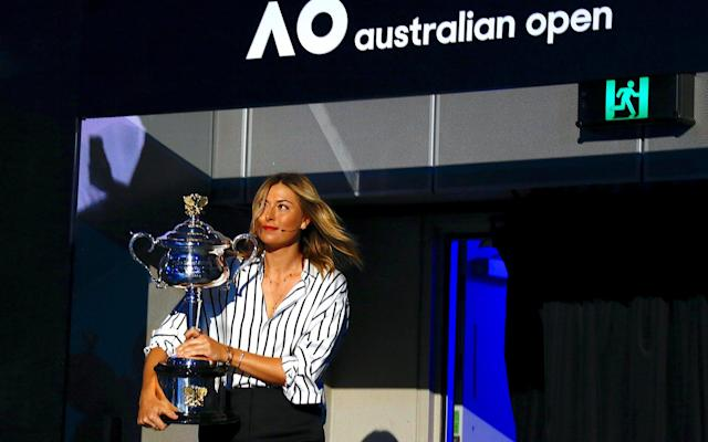Maria Sharapova attended the draw in Serena Williams' absence - REUTERS
