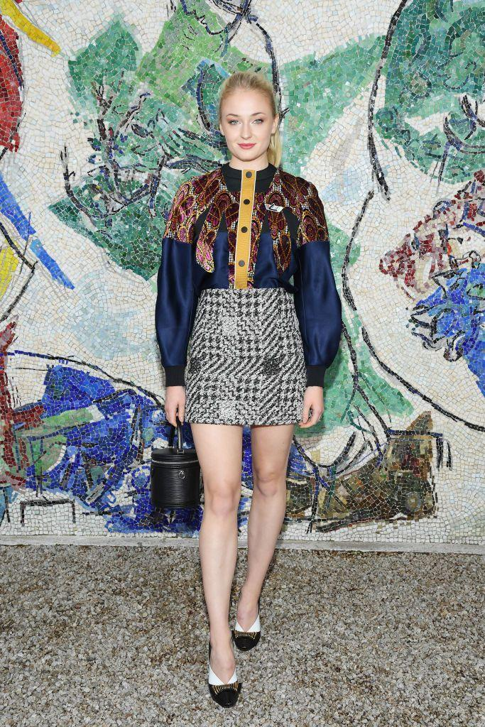 <p>The Louis Vuitton favourite wore the brand when she took her front row seat to view the 2019 Cruise Collection in Saint-Paul-De-Vence, France.</p>
