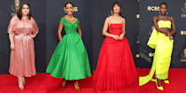 <p>The Emmys 2021 took place overnight and yup, as you might've already guessed, it was a star-studded event with a red carpet offering that was as impressive as the guest list.</p><p>Vibrant gowns were the order of the day, complete with decadent trains, supremely extra embellishment and incred jewels to match. From Anya Taylor-Joy and Michaela Coel's statement yellow dresses to Mandy Moore and Tracee Ellis Ross' rich red numbers, there's no shortage of eye-catching looks.</p><p>So, without further ado, scroll through to see the best-dressed celebrities from the Emmys.</p>