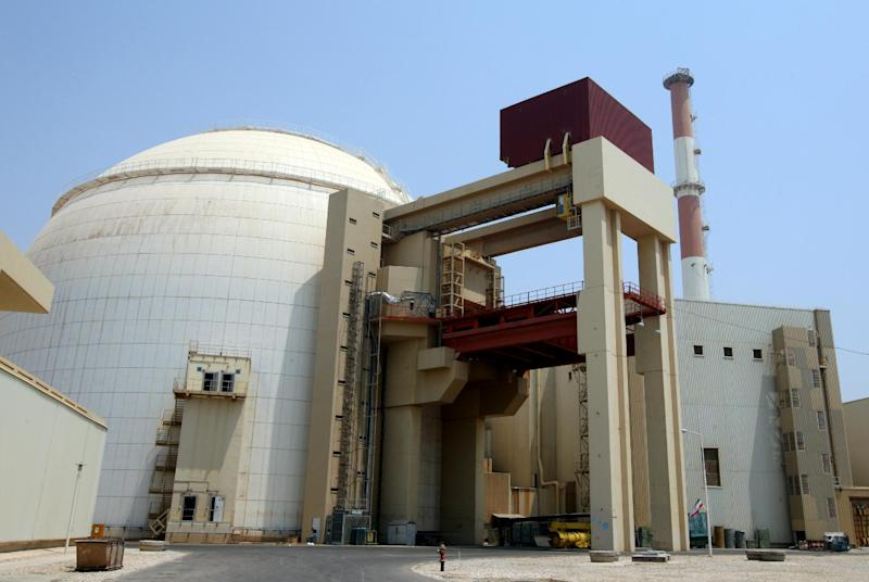 The reactor building at the Russian-built Bushehr nuclear power plant in southern Iran on August 21, 2010