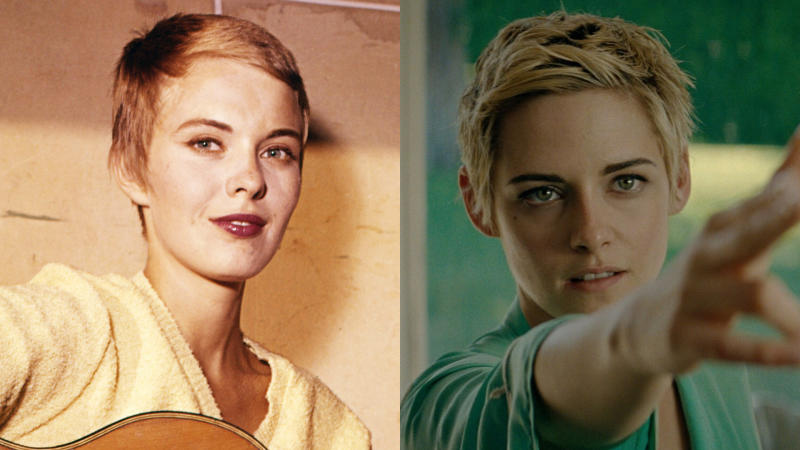 French New Wave icon Jean Seberg is being portrayed by Kristen Stewart in 'Seberg'. (Credit: Silver Screen Collection/Getty Images/Universal)