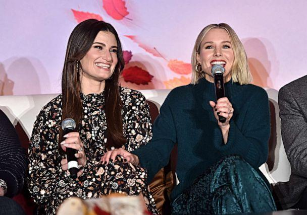 PHOTO: Actors Idina Menzel and Kristen Bell speak at the FROZEN II Global Press Conference in Hollywood, Calif., Nov. 09, 2019. (Getty Images for Disney, File)