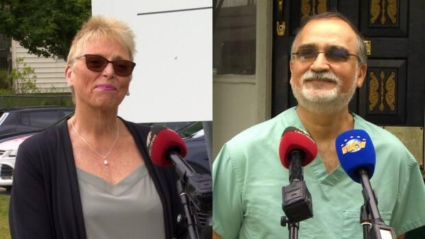 Mary Shortall and Dr. Mansoor Pirzada are running as candidates for the NDP seat in St. John's East.  (CBC - image credit)