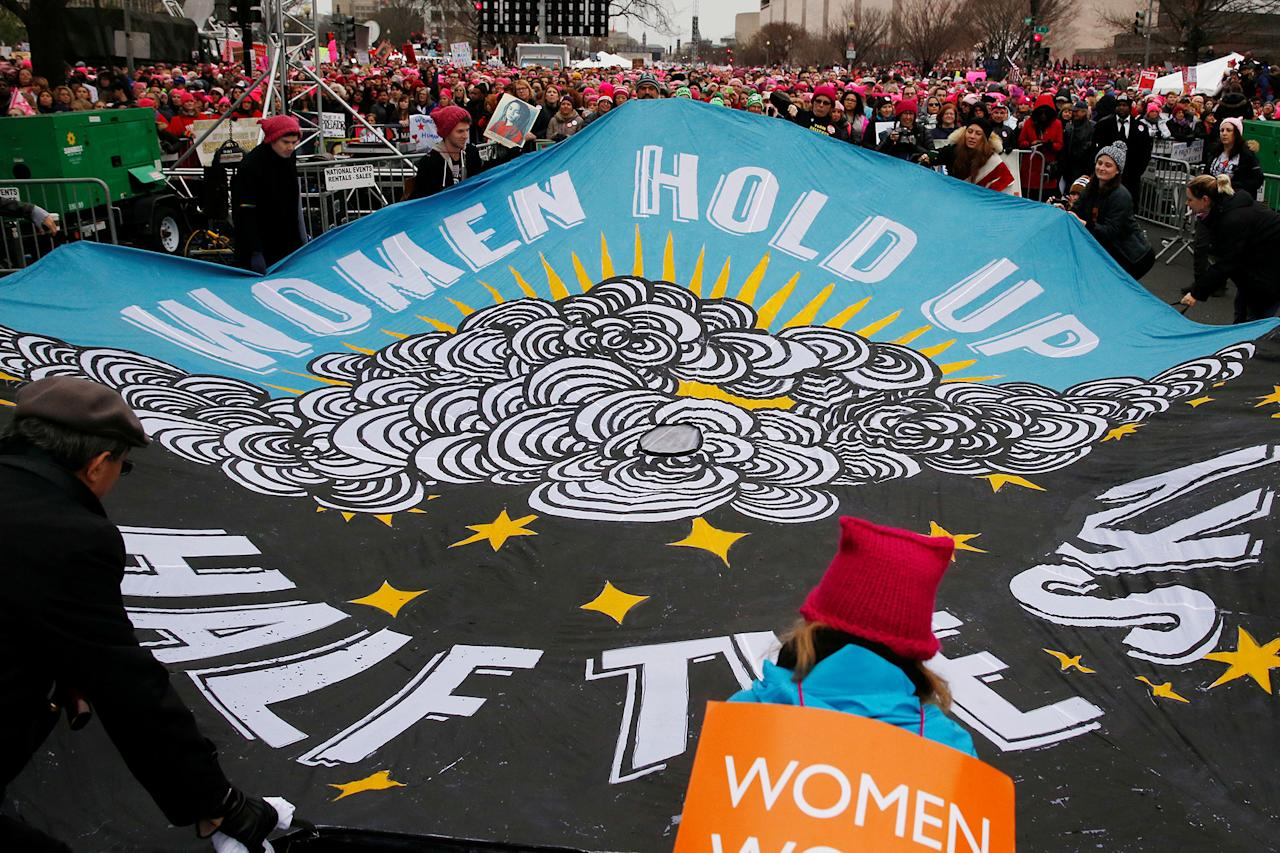 <p>People gather for the Women's March in Washington U.S., January 21, 2017. (Shannon Stapleton/Reuters) </p>