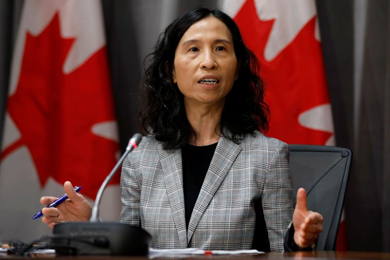 Canada's chief public health officer, Dr. Theresa Tam, attends a news conference in Ottawa on March 23, 2020. (Photo: Blair Gable / Reuters)