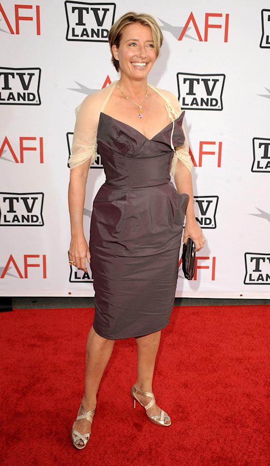 "<a href=""http://movies.yahoo.com/movie/contributor/1800024072"">Emma Thompson</a> attends the 38th Annual Lifetime Achievement Award Honoring Mike Nichols at Sony Pictures Studios on June 10, 2010 in Culver City, California."