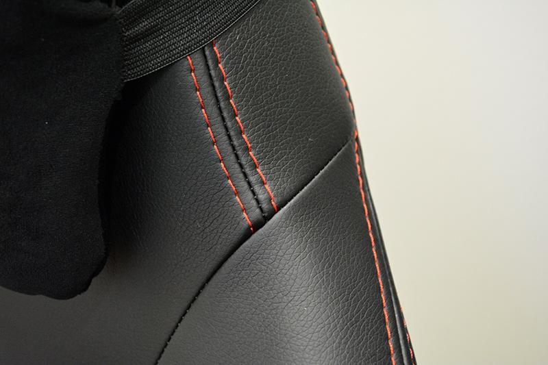 Here's a close up shot of the PU leather on the Omega.