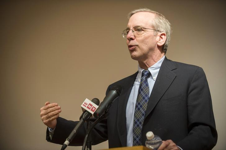 William Dudley, President of the New York Federal Reserve Bank, speaks at Brooklyn College in the Brooklyn borough of New York