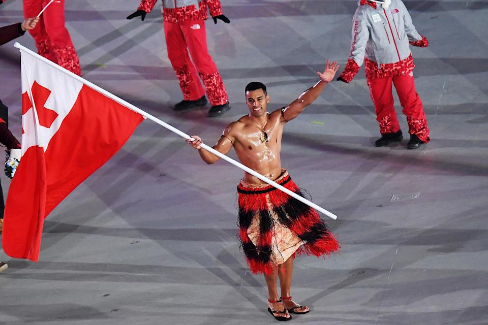 <p>Many were surprised (and delighted) to see the Tongan athlete at the 2018 games. </p>