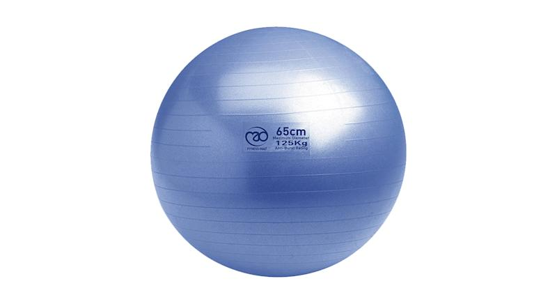 Yoga-Mad Swiss Fitness Ball and Pump