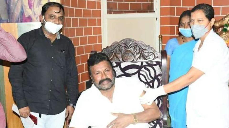 BJP minister sparks row after getting COVID-19 vaccine at home