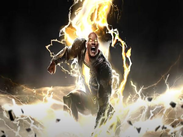 A still from the teaser of 'Black Adam' (Image source: YouTube)