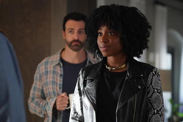 Kirby Howell-Baptiste stars as a high-powered lawyer with an underachieving husband (played by Reid Scott) in the new CBS All Access series, Why Women Kill. (Photo: CBS All Access)