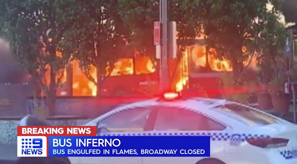 All passengers who were on board the bus at the time of the fire were evacuated by the driver. Source: Nine News