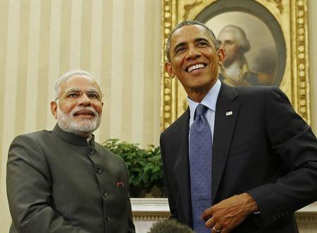 U.S. President Barack Obama and India's PM Narendra Modi end their meeting at the White House in Washington