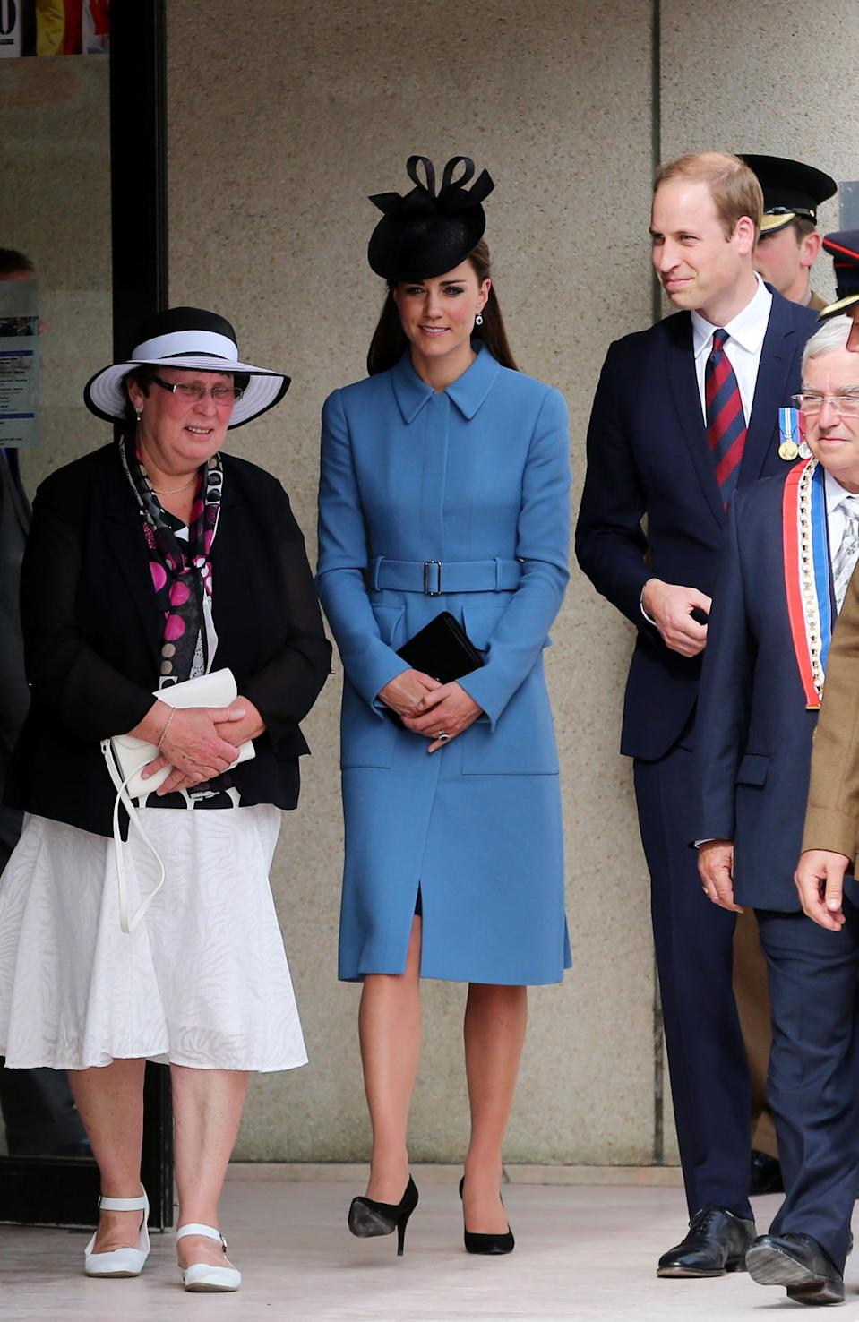 <p>Marking D-Day in a custom Alexander McQueen look, Kate accessorised with a black Lock & Co hat, Stuart Weitzman heels and a Mulberry clutch. </p><p><i>[Photo: PA]</i></p>