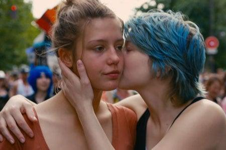 <p>Adele Exarchopoulis and Lea Seydoux star in Blue is the Warmest Colour</p>Handout