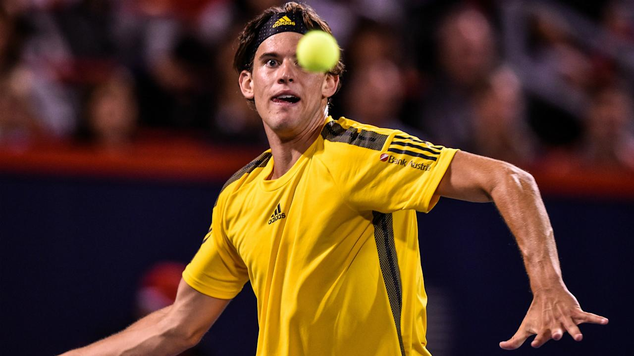 Early conditions allowed players to take to the court and Dominic Thiem overcame Adrian Mannarino, but Rafael Nadal was sidelined by rain.