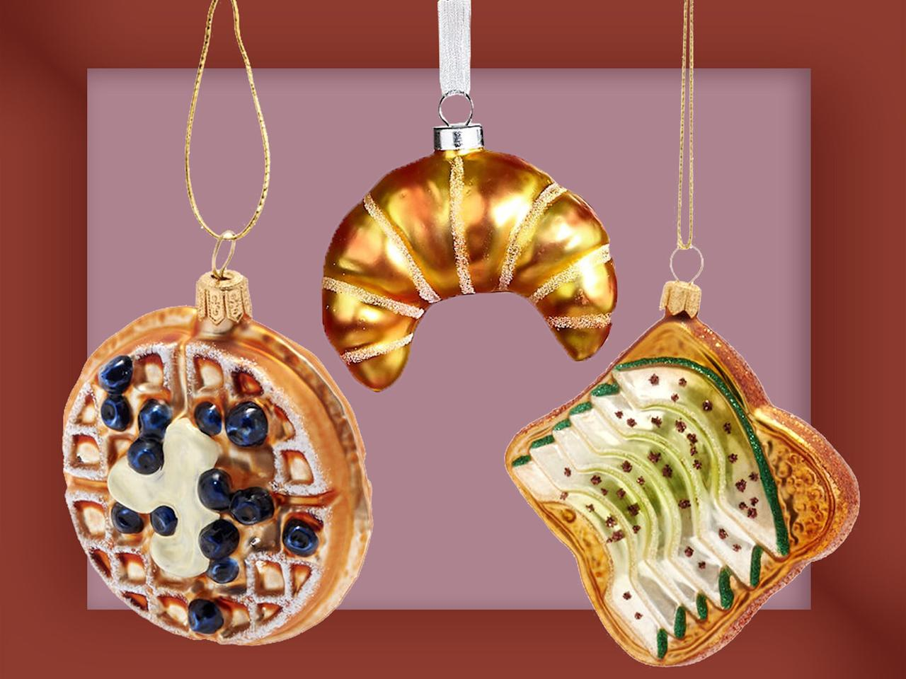 """<p>If you have a favorite breakfast food, there's probably an ornament for it. There's eggs, croissants, and blueberry waffles—even trendy dishes like avocado toast and <i>overnight oats</i>. Grab a few and you'll have the hippest brunch-themed tree around. </p>  <p>Overnight Oats Glass Ornament, $34 at <a href=""""http://www.anrdoezrs.net/links/7923151/type/dlg/sid/FW%2Cfood-ornaments-breakfast-ft-blog1119.jpg%2Cscrowder805%2C%2CIMA%2C1387696%2C201911%2CI/http://www.shopterrain.com/products/overnight-oats-glass-ornament"""" target=""""_blank"""">shopterrain.com</a> </p> <p>Crate of Eggs Glass Ornament, $13 at <a href=""""http://surlatable.aiy7.net/c/249354/635796/10190?subId1=FW%2Cfood-ornaments-breakfast-ft-blog1119.jpg%2Cscrowder805%2C%2CIMA%2C1387696%2C201911%2CI&u=http%3A%2F%2Fwww.surlatable.com%2Fpro-5505201-orn-crate-eggs-ct%2F5505201.html"""" target=""""_blank"""">surlatable.com</a> </p> <p>Avocado Toast Glass Ornament, $25 at <a href=""""http://surlatable.aiy7.net/c/249354/635796/10190?subId1=FW%2Cfood-ornaments-breakfast-ft-blog1119.jpg%2Cscrowder805%2C%2CIMA%2C1387696%2C201911%2CI&u=http%3A%2F%2Fwww.surlatable.com%2Favocada-toast-glass-ornament%2FPRO-3500592.html"""" target=""""_blank"""">surlatable.com</a></p> <p>Blueberry Waffle Glass Ornament, $13 at <a href=""""http://surlatable.aiy7.net/c/249354/635796/10190?subId1=FW%2Cfood-ornaments-breakfast-ft-blog1119.jpg%2Cscrowder805%2C%2CIMA%2C1387696%2C201911%2CI&u=http%3A%2F%2Fwww.surlatable.com%2Fpro-5505268-orn-waffle-blubry-ct%2FPRO-5505268.html"""" target=""""_blank"""">surlatable.com</a></p> <p>Chocolate Pancake Stack Glass Ornament, $11 (was $18) at <a href=""""https://click.linksynergy.com/deeplink?id=93xLBvPhAeE&mid=13867&murl=http%3A%2F%2Fwww.bloomingdales.com%2Fshop%2Fproduct%2Fbloomingdales-chocolate-pancake-stack-glass-ornament-100-exclusive%3FID%3D3334545&u1=FW%2Cfood-ornaments-breakfast-ft-blog1119.jpg%2Cscrowder805%2C%2CIMA%2C1387696%2C201911%2CI"""" target=""""_blank"""">bloomingdales.com</a></p> <p>Croissant Ornament, $8 at <a href=""""http://www.anrdo"""
