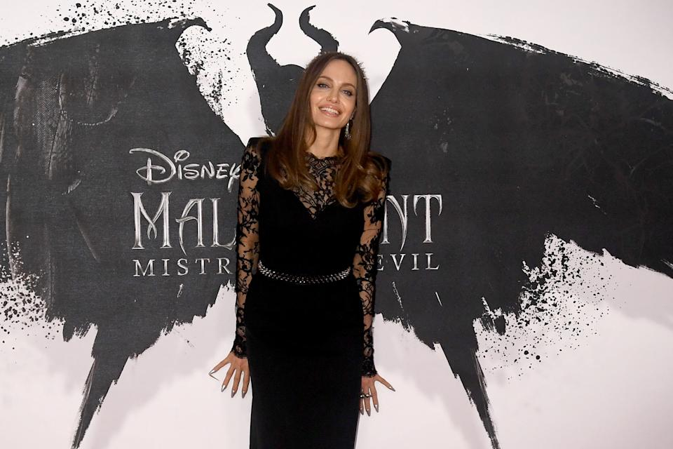 "LONDON, ENGLAND - OCTOBER 10: Angelina Jolie attenda a photocall for ""Maleficent: Mistress of Evil"" at Mandarin Oriental Hotel on October 10, 2019 in London, England. (Photo by Dave J Hogan/Getty Images)"