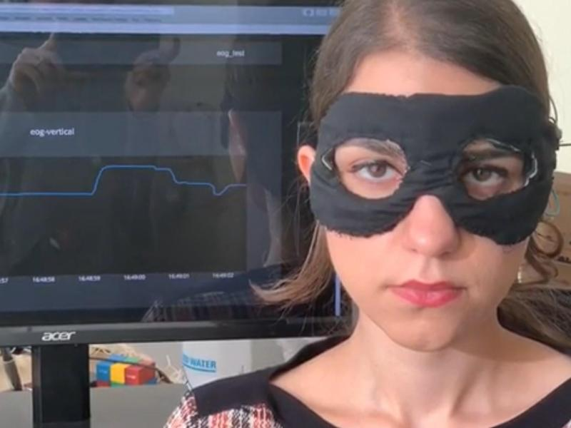 The Chesma mask tracks a wearer's eye movements in real time: Zohreh Homayounfar