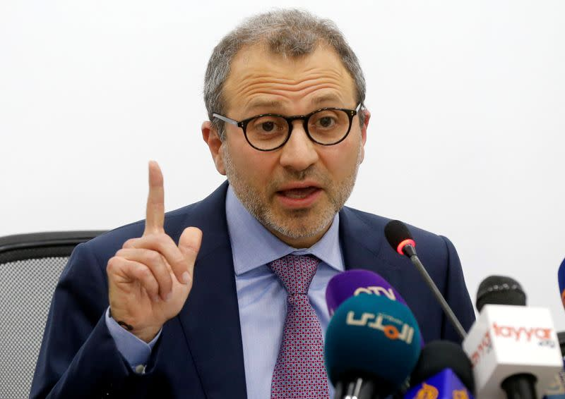 Under 'financial siege', Lebanon must stave off strife, says Bassil