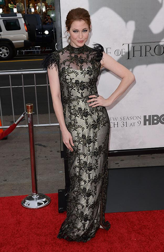 "Esme Bianco arrives at the premiere of HBO's ""Game of Thrones"" Season 3 at TCL Chinese Theatre on March 18, 2013 in Hollywood, California."