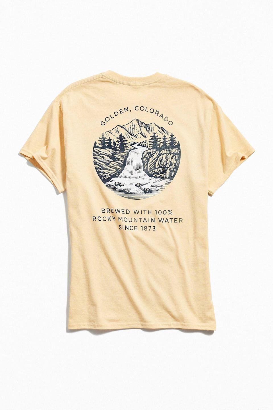 """<p><strong>Urban Outfitters</strong></p><p>urbanoutfitters.com</p><p><strong>$29.00</strong></p><p><a href=""""https://go.redirectingat.com?id=74968X1596630&url=https%3A%2F%2Fwww.urbanoutfitters.com%2Fshop%2Fcoors-golden-colorado-tee&sref=https%3A%2F%2Fwww.prevention.com%2Flife%2Fg27288061%2Ffathers-day-gift-ideas%2F"""" rel=""""nofollow noopener"""" target=""""_blank"""" data-ylk=""""slk:Shop Now"""" class=""""link rapid-noclick-resp"""">Shop Now</a></p><p>The easiest way to make Dad's day is to give him something that he'll actually use—and this soft, top-rated tee is practically begging to be worn at his next cookout or camping trip. (Bonus points if he's a Coors guy.)</p>"""