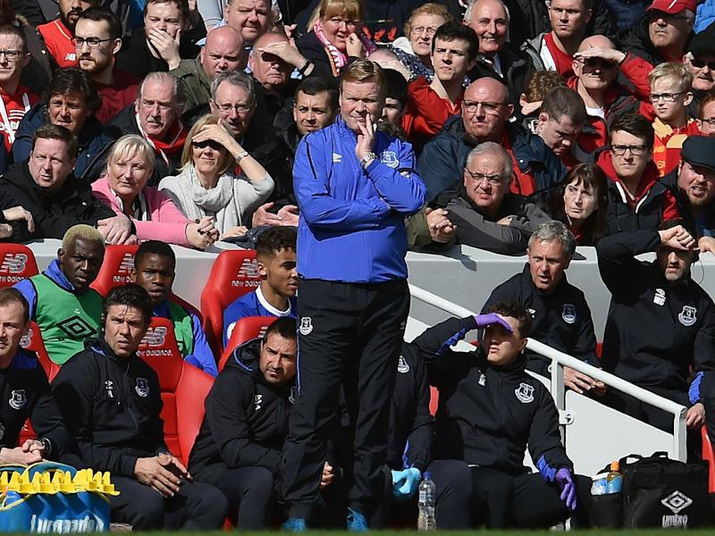 Koeman was unable to provide a solution to Everton's woes at Anfield: Getty