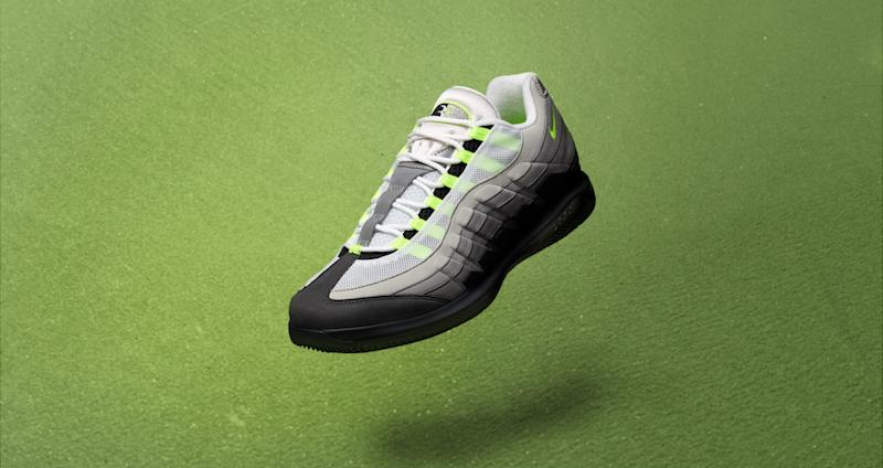 quality design 154cc e9780 Roger Federer's Nike Vapor x Air Max 95 Collab Is 'Neon' and ...