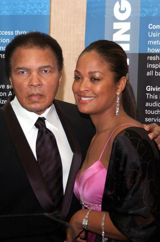 <p>Former Heavyweight Champion Muhammad Ali and Daughter Laila (Photo by Moses Robinson/WireImage)</p>