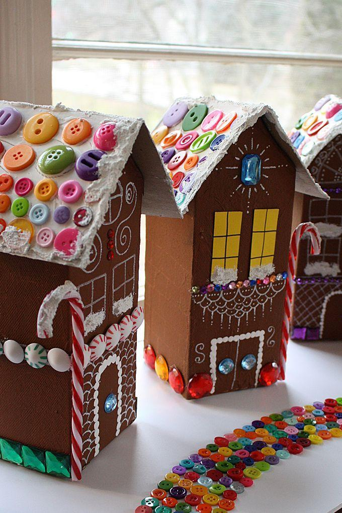"""<p>We won't blame you if you decide to recycle your milk cartons like always, but we've got another idea to run by you: the cutest <a href=""""https://www.goodhousekeeping.com/holidays/christmas-ideas/g344/gingerbread-houses/"""" rel=""""nofollow noopener"""" target=""""_blank"""" data-ylk=""""slk:gingerbread village"""" class=""""link rapid-noclick-resp"""">gingerbread village</a> ever. It can be stored away and re-used year after year (or make it a tradition to build a new one every Christmas!). </p><p><em><a href=""""http://craftsbyamanda.com/gingerbread-house-village/"""" rel=""""nofollow noopener"""" target=""""_blank"""" data-ylk=""""slk:Get the tutorial at Crafts by Amanda »"""" class=""""link rapid-noclick-resp"""">Get the tutorial at Crafts by Amanda »</a> </em></p>"""