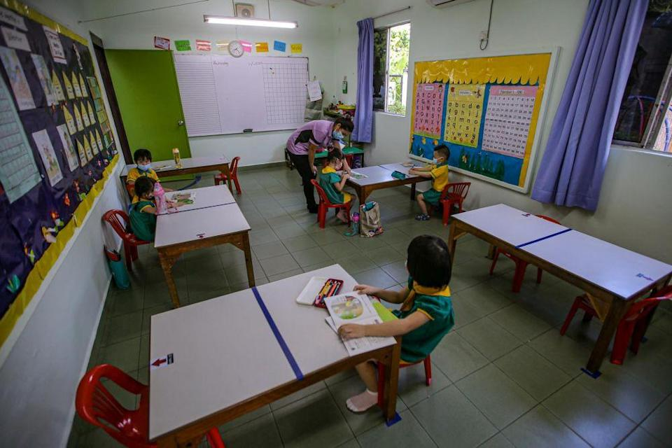 The Education Ministry has decided to allow private kindergartens to operate in areas affected by the imminent movement control order. — Picture by Hari Anggara