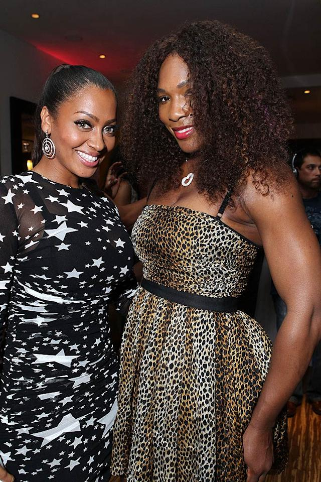 """The 32-year-old mingled with guests like tennis star Serena Williams. One of the topics of conversation was surely the Saturday, August 20, wedding of La La and Serena's gal pal, Kim Kardashian. Think they'll both be there? Alexandra Wyman/<a href=""""http://www.wireimage.com"""" target=""""new"""">WireImage.com</a> - August 18, 2011"""