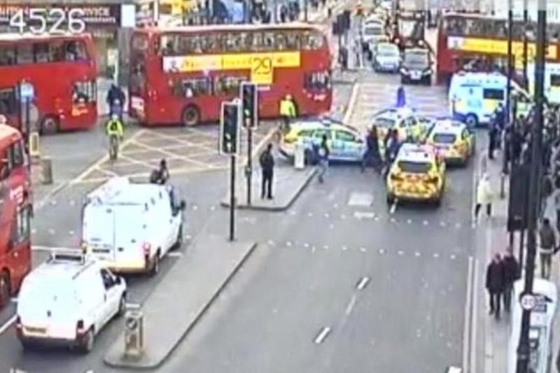 Police descended on Brixton Road