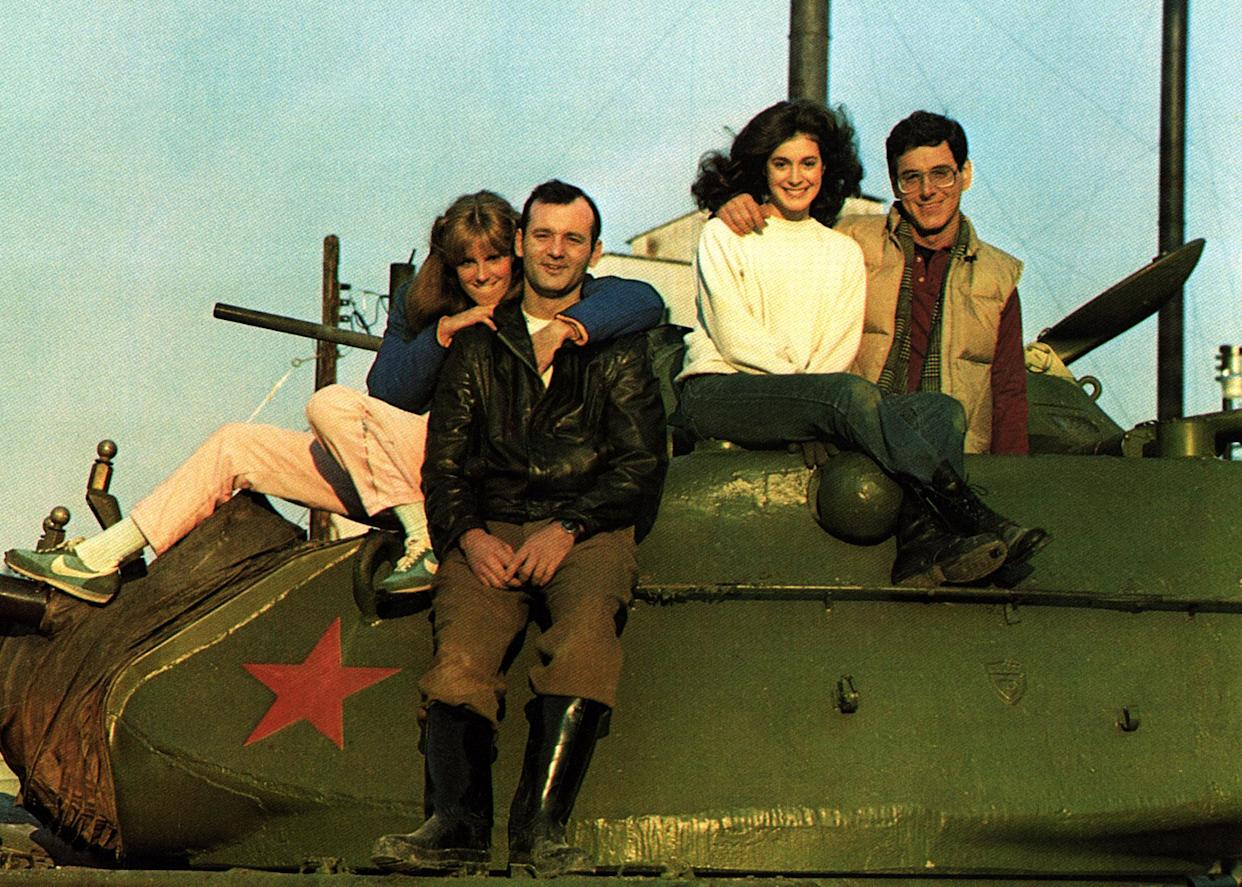 From left to right: Soles, Murray, Sean Young and Harold Ramis on the set of 'Stripes' (Photo: Courtesy Everett Collection)