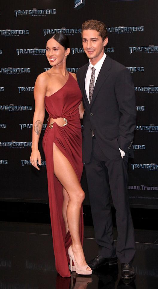 """<a href=""""http://movies.yahoo.com/movie/contributor/1808488000"""">Megan Fox</a> and <a href=""""http://movies.yahoo.com/movie/contributor/1804503925"""">Shia LaBeouf</a> at the Berlin premiere of <a href=""""http://movies.yahoo.com/movie/1809943432/info"""">Transformers: Revenge of the Fallen</a> - 06/14/2009"""