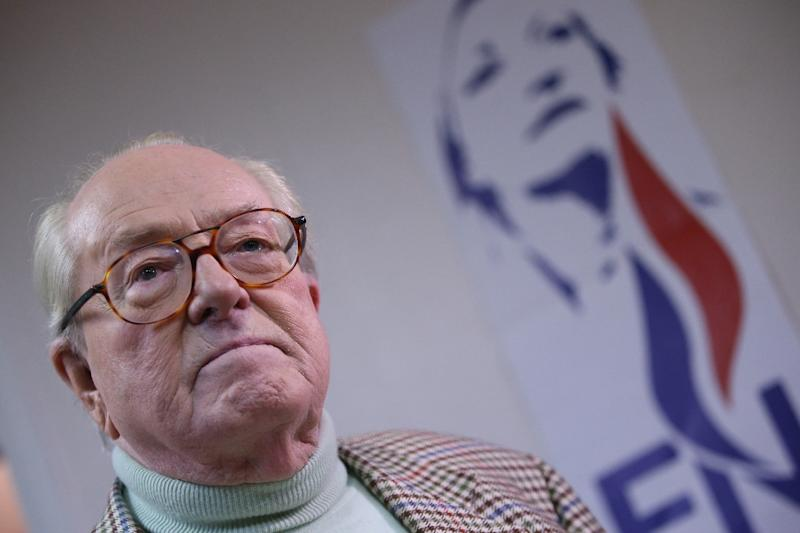 French far-right Front National founder Jean-Marie Le Pen has been discharged from hospital after a short stint for a heart problem, a source close to the former party leader said (AFP Photo/Kenzo Tribouillard)
