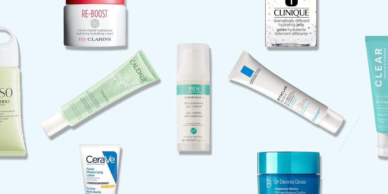 "<p>If you have <a href=""https://www.elle.com/uk/beauty/skin/articles/a30860/this-is-how-you-get-rid-of-acne-for-real/"" target=""_blank"">acne</a>-prone skin, finding a moisturiser that works for you can be like soothing a crying baby; you're not sure what it needs or what you've done to upset it, so it's a guessing game on what will calm it down and not make the problem worse. <br></p><p><a href=""https://www.elle.com/uk/beauty/skin/g31378/the-best-moisturisers-for-dry-skin/"" target=""_blank"">Hydration</a> can sometimes feel like the enemy but finding the right balance is key. Whilst it might be tempting to chuck the thickest creams on to relieve that tight feeling you get from <a href=""https://www.elle.com/uk/beauty/skin/articles/g31378/the-best-moisturisers-for-dry-skin/"" target=""_blank"">dehydrated skin</a>, it normally goes the other way and ends up making skin oilier and more prone to spots popping up. From lightweight creams, to cooling gels, there's a holy grail moisturiser out there for you to stop those breakouts for good. <br></p><p>And where there's a will, there's a way. We've rounded up the best moisturisers for blemish-prone skin to help eradicate any spots and pimples to leave you with skin that's matte and totally spot-free.</p>"