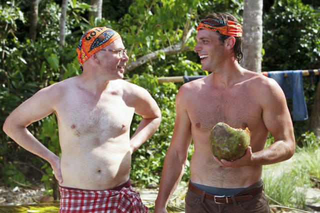 """Premiere"" - Michael Snow and Reynold Toepfer during the premiere episode of ""Survivor: Caramoan - Fans vs. Favorites."" The Emmy Award-winning series returns for its 26th season with a special 90-minute premiere on CBS."