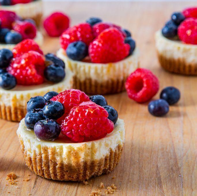 """<p>Because the only thing that's better than cupcakes is a creamy slice of fruit-topped <a href=""""https://www.goodhousekeeping.com/food-recipes/dessert/a29775752/keto-raspberry-cheesecake-recipe/"""" rel=""""nofollow noopener"""" target=""""_blank"""" data-ylk=""""slk:cheesecake"""" class=""""link rapid-noclick-resp"""">cheesecake</a> — so, why not combine the two?</p><p><em><a href=""""https://www.delish.com/cooking/recipe-ideas/a28928757/cheesecake-cupcakes-recipe/"""" rel=""""nofollow noopener"""" target=""""_blank"""" data-ylk=""""slk:Get the recipe from Delish »"""" class=""""link rapid-noclick-resp"""">Get the recipe from Delish »</a></em></p>"""
