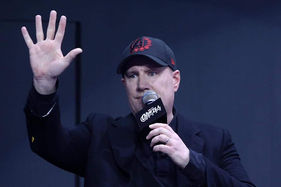 Kevin Feige attends the fan event for Marvel Studios' 'Avengers: Endgame' South Korea premiere on April 15, 2019 in Seoul, South Korea. (Photo by Chung Sung-Jun/Getty Images for Disney)