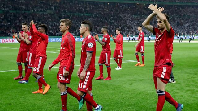 The manager of the Bundesliga champions doesn't believe his side showed a lack of respect by leaving the pitch ahead of their rivals lifting the cup