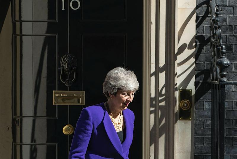 Mrs May has been told set out specifics on when she will pack her bags and leave Downing Street (Getty)