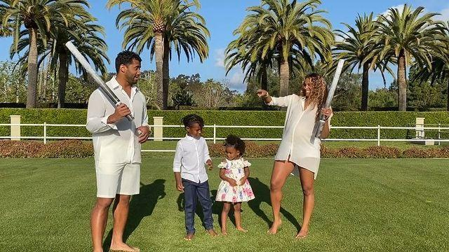 """<p>On Tuesday April 13, the couple revealed that they are expecting a son, sharing a sweet video of the sex reveal in the garden on social media.<br> <br>'Guys, if it's pink, what is it going to be,' the singer asked her five-year-old son Future and two-year-old daughter Sienna in the clip. Both children responded: 'A girl.'<br> <br>The pregnant start then asked if they were hoping for a brother or sister, which prompted her eldest child to say: 'I want it to be a boy.'<br> <br>'You know what I want it to be?' asked Wilson. 'Whatever God has for us,' replied Ciara. <br> <br>Seconds later, the parents blew blue smoke and confetti, revealing they are expecting a baby boy. <br></p><p><a href=""""https://www.instagram.com/p/B-9yEf8HW-b/?utm_source=ig_web_copy_link"""" rel=""""nofollow noopener"""" target=""""_blank"""" data-ylk=""""slk:See the original post on Instagram"""" class=""""link rapid-noclick-resp"""">See the original post on Instagram</a></p>"""
