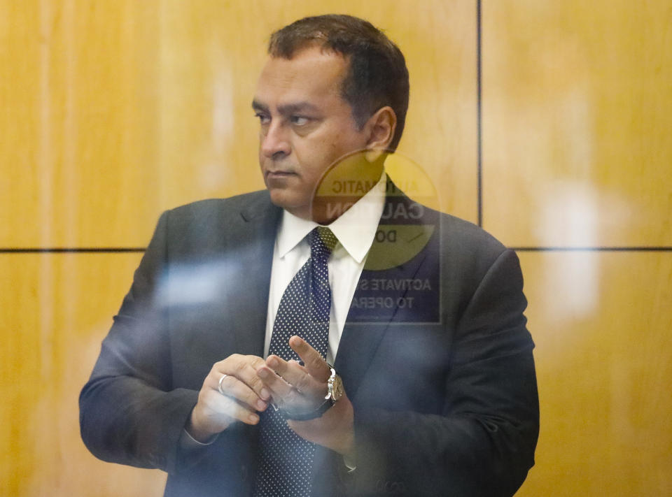 SAN JOSE, CA - JULY 17:  Former Theranos COO Ramesh Balwani appears in federal court for a status hearing on July 17, 2019 in San Jose, California. Former founder of Theranos Elizabeth Homes and Balwani are facing charges of conspiracy and wire fraud for allegedly engaging in a multimillion-dollar scheme to defraud investors with the Theranos blood testing lab services.  (Photo by Kimberly White/Getty Images)