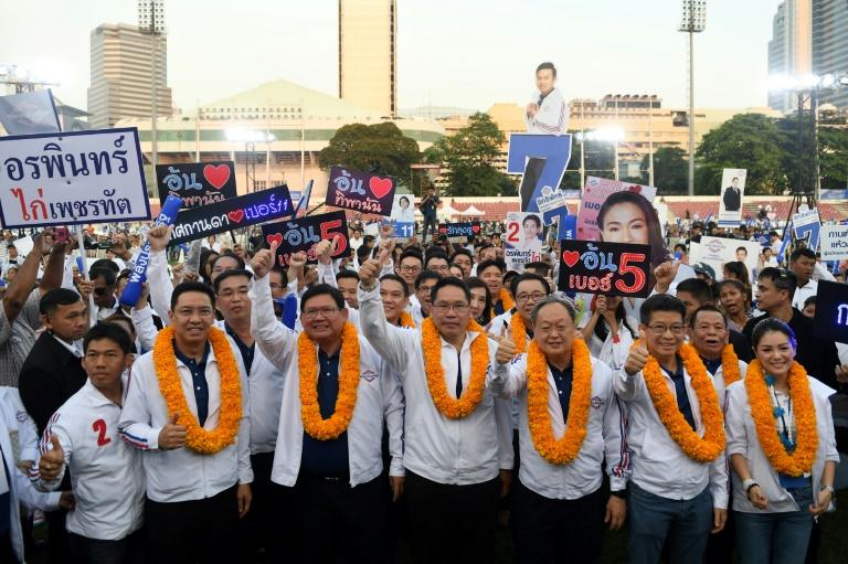 Supporters for Phalang Pracharat turned out in force in Bangkok in the run-up to the general election