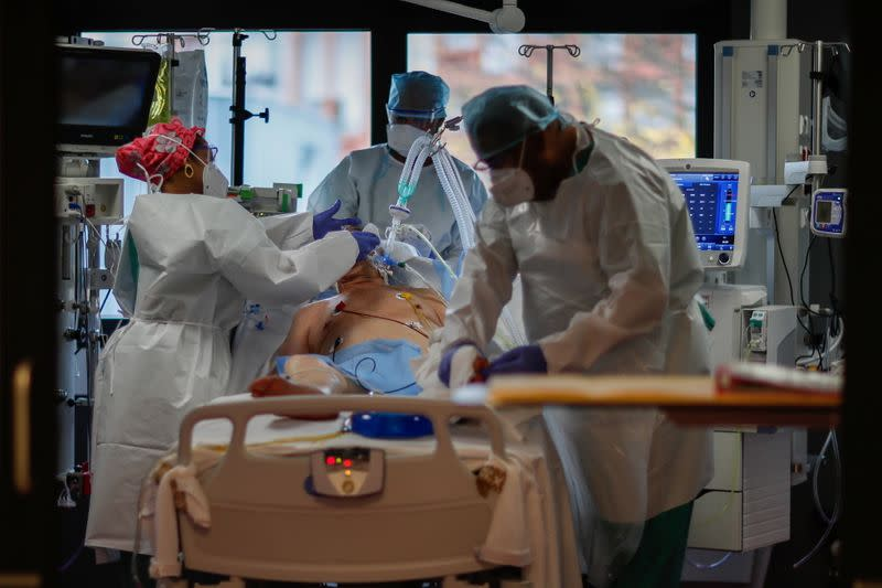 FILE PHOTO: French hospitals faces second wave of COVID patients