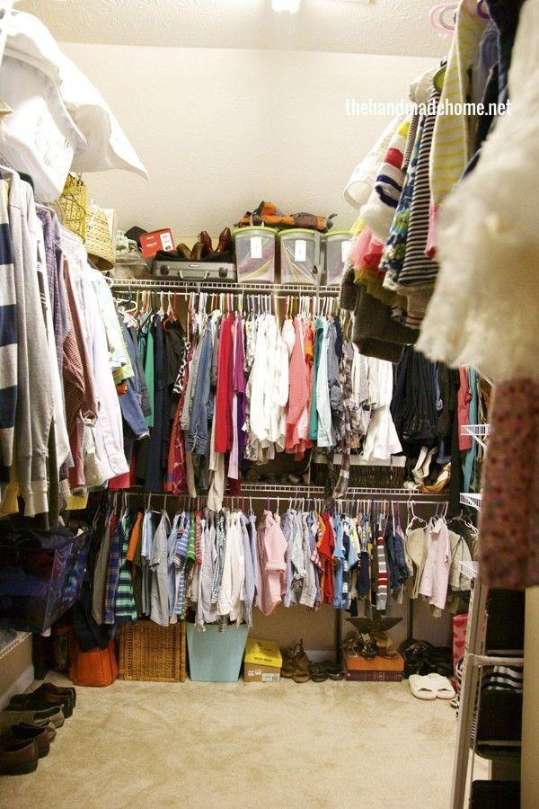 """<p>We get it: The entire family used <a href=""""http://www.thehandmadehome.net/2014/03/the-family-closet/"""" rel=""""nofollow noopener"""" target=""""_blank"""" data-ylk=""""slk:this closet"""" class=""""link rapid-noclick-resp"""">this closet</a> that's basically a small room, so of course clothes were stuffed tightly into the space.</p>"""